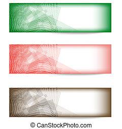 elvont, állhatatos, transzparens, három, színes