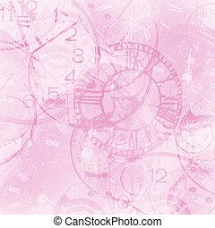 elvont, óra, háttér, szüret, rózsaszínű