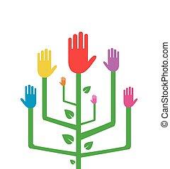 elvont, fa, színes, kézbesít