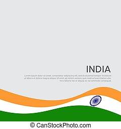 elvont, fedő, háttér, india., nemzeti, poster., kártya, indiai, vektor, ünnep, kreatív, flyer., hazafias, lenget lobogó, tervezés, design., állam, háromszínű