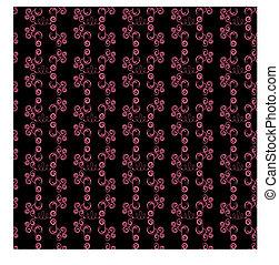 elvont, fekete, seamless, apa, rózsaszínű
