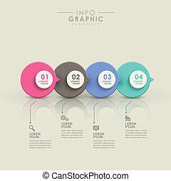 elvont, folyamatábra, infographics