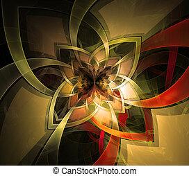elvont, fractal, háttér