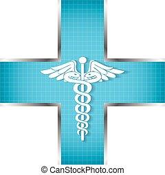 elvont, háttér, orvosi, jelkép., pusztulásnak indult