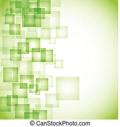 elvont, háttér, zöld, derékszögben