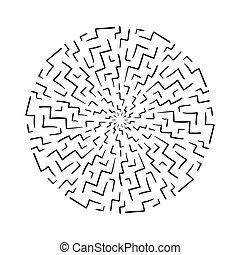 elvont, karika, graphic., hand-drawn, geometriai