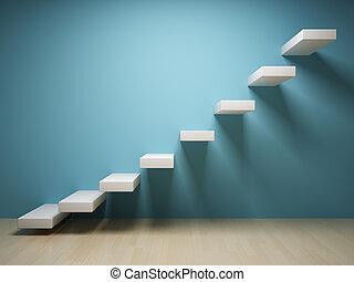 elvont, lépcsőfok