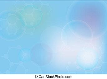 elvont, molekulák, orvosi, háttér