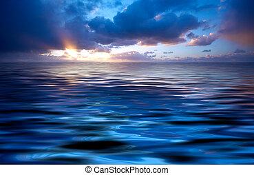 elvont, naplemente óceán