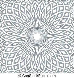 elvont, pattern., geometriai, radiális