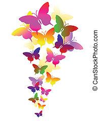 elvont, pillangók, háttér
