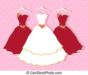 elvont, ruha, esküvő