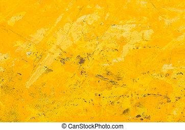 elvont, sárga, akril, háttér