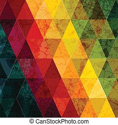 elvont, színes, geometriai, háttér