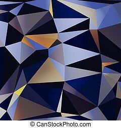 elvont, színes, geometriai, vector., háromszögű