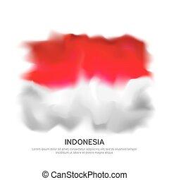 elvont, vektor, grafikus, indonézia, hazafias, sablon, design., nemzet, nemzeti, transzparens, háttér., ünnep, poszter, kreatív, white lobogó