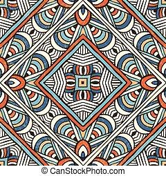 elvont, vektor, pattern., hand-drawn, seamless