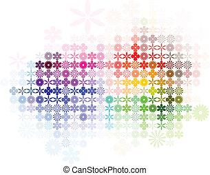 elvont, virág, színkép, háttér