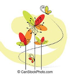 elvont, virág, tavasz