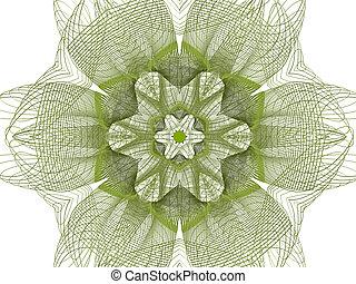 elvont, virág, zöld