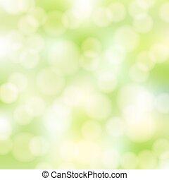 elvont, zöld, bokeh, háttér