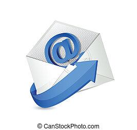 email., érintkezés, mail., bennünket, ábra