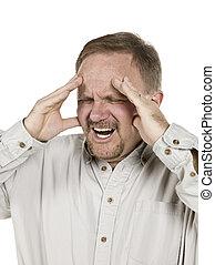 ember, öreg, fejfájás