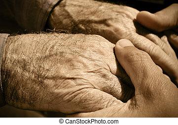 ember, öreg, fiatal, hatalom kezezés