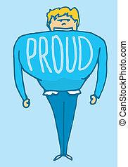ember, büszke, nagyon, maga