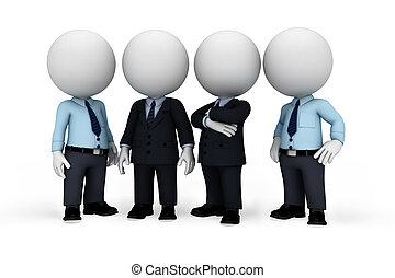 ember, fehér, 3, ügy emberek