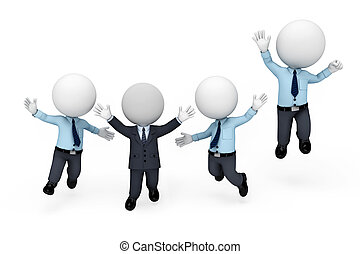 ember, fehér, 3, szolgáltatás, emberek