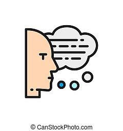 ember, hangosan, panama, icon., beszéd, thoughts, lakás, szín, felolvasás