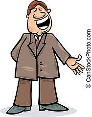 ember, karikatúra, illeszt