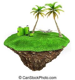 ember, kevés, fű, bágyasztó, vidék, zöld háttér, friss, fehér, darab, 3