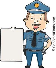 ember, rendőrség, bizottság, foglalkozás