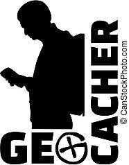 ember, szó, geocacher, ikon