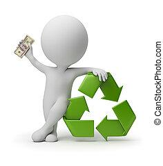 emberek, újrafelhasználás, -, kicsi, fizetés, 3