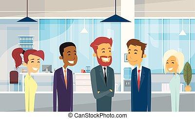 emberek ügy, businesspeople, hivatal sportcsapat, csoport, különböző