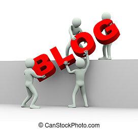 emberek, -, 3, fogalom, blogging