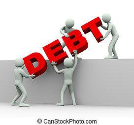emberek, -, adósság, 3, fogalom
