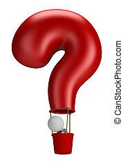emberek, -, balloon, kérdez, kicsi, 3