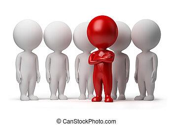 emberek, -, befog, kicsi, vezető, 3