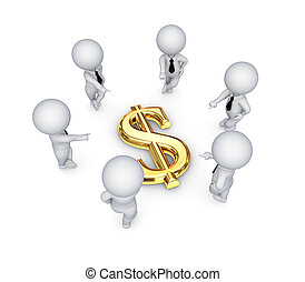 emberek, dollár, mindenfelé, cégtábla., 3, kicsi