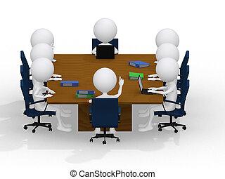 emberek, együtt., dolgozó, ügy, group., -, portré, nyolc, csoport, különböző, gyűlés, munka