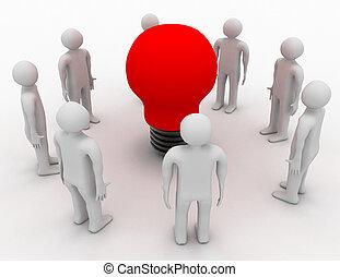 emberek, fény, vakolás, gumó, piros, 3