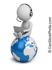 emberek, globális, -, menedzser, kicsi, 3