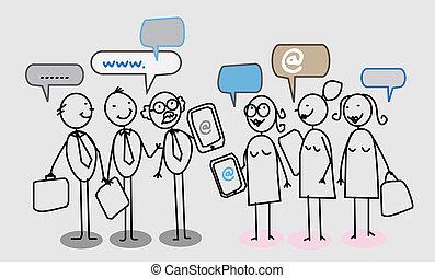 emberek, hálózat, ügy, társadalmi