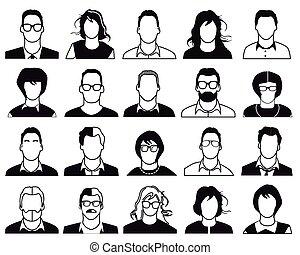 emberek, ikonok