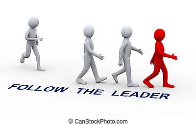 emberek következő, vezető, 3