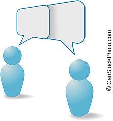 emberek, kommunikáció, rész, jelkép, beszéd, panama, beszél